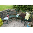 Semi Circle Metal Garden Bench