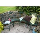 Semi Circle Metal Garden Bench
