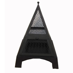 Greenfingers Pyramid Fire Pit With Grill