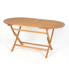 Ellister Carolina FSC Oval Folding Table