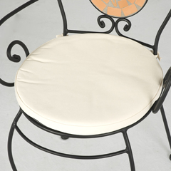 Cream Seat Pad For Bistro Chair