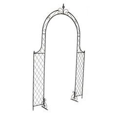 Worcester Flat Trellis Metal Garden Arch