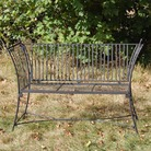Worcester High Sided Metal Garden Bench