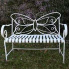 Cream Butterfly Folding Garden Bench